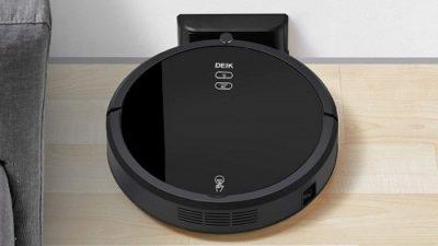 Deik Robotic Vacuum Cleaner, New Version with Self-Charging & Drop-Sensing Technology