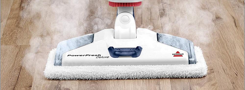 Bissell Powerfresh Deluxe Steam Mop, Steamer, Tile, Hard Wood Floor Cleaner, 1806, Sapphire