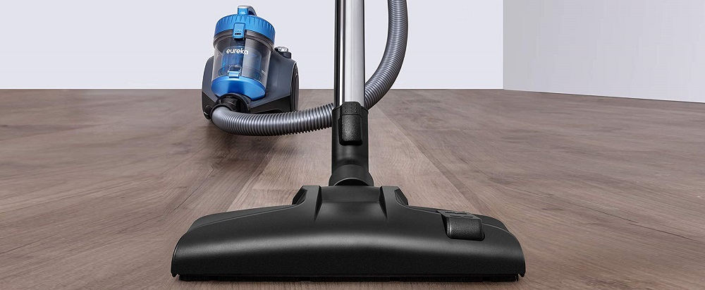 Eureka Whirlwind Bagless Canister Vacuum Cleaner, NEN110A Lightweight Corded Vacuum for Carpets and Hard Floors