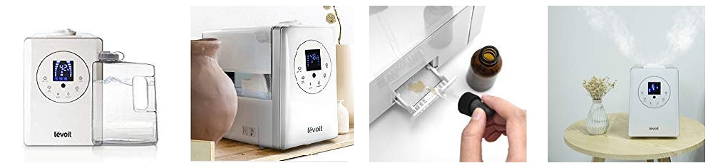 LEVOIT Humidifiers for Large Room, 6L Warm and Cool Mist Ultrasonic Humidifier