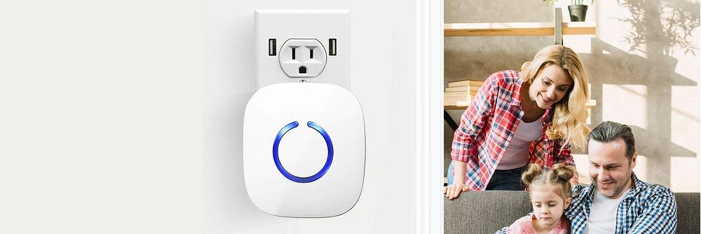 STARPOINT Expandable Wireless Multi-Unit Long Range Doorbell Chime Alert System