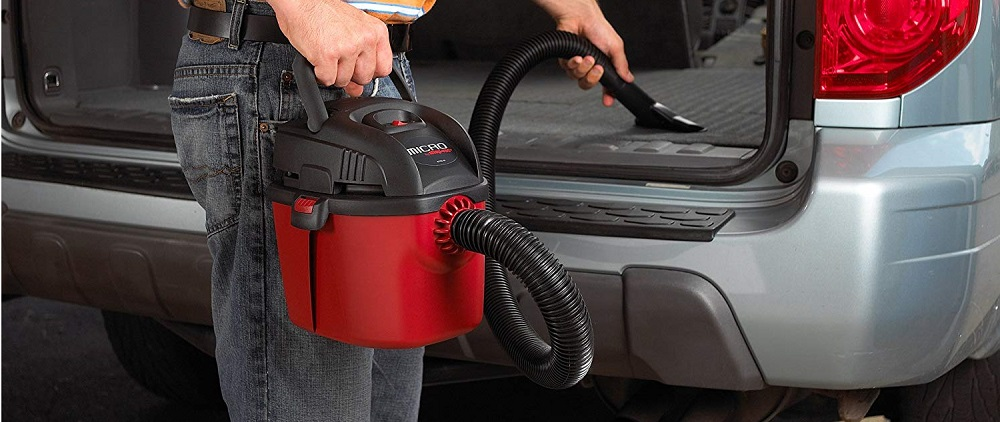 Shop-Vac 2021000 Micro Wet Dry Vac Portable Compact Micro Vacuum with Collapsible Handle