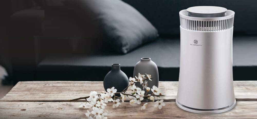 SilverOnyx Air Purifier for Home with True HEPA Carbon Filter