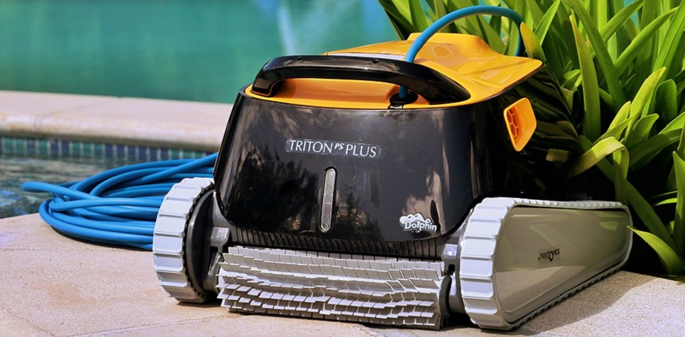 Dolphin Triton PS Plus Automatic Pool Cleaner with Bluetooth and Extra-Large Filter Basket