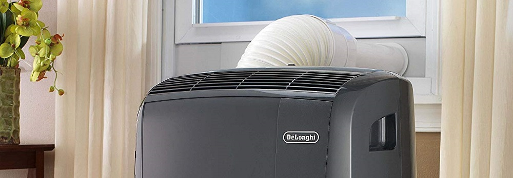 DeLonghi Pinguino Portable Air Conditioner 550 sq. ft. Dark Gray