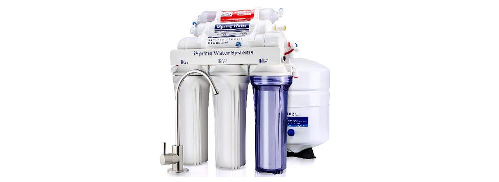 iSpring RCC7AK Under Sink Reverse Osmosis Drinking Water Filter System
