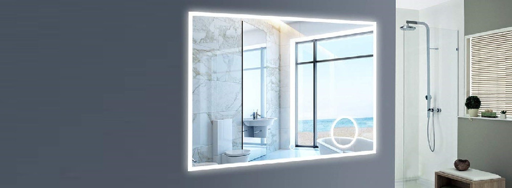NeuType Large Wall Mounted Bathroom Mirror