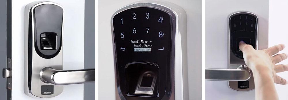 AIGURD Fingerprint Smart Door Lock, Biometric Keyless Electronic Lock