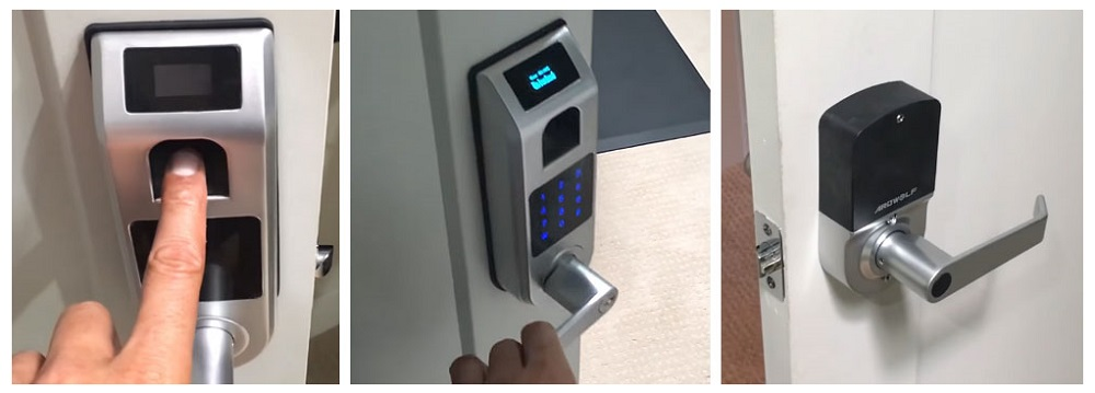 Keyless Entry Door Lock, ARDWOLF A10 Fingerprint Touchscreen Smart Door Lock with Visual Menu Display Perfect for Home, Office, Only for Indoor Use