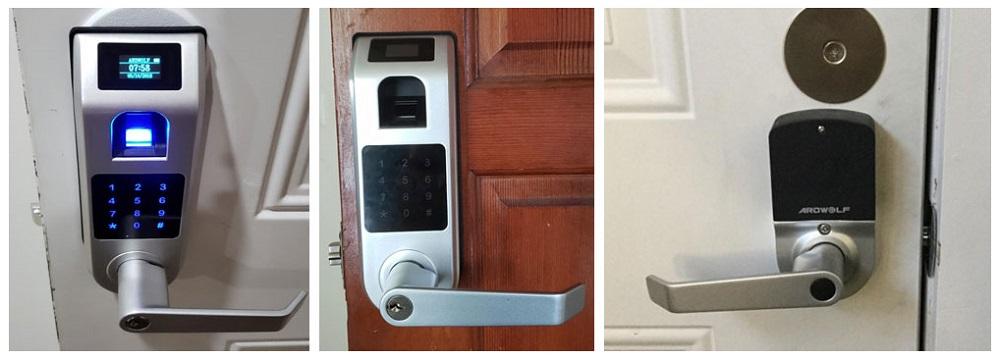 Keyless Entry Door Lock, ARDWOLF A10 Fingerprint Touchscreen Smart Door Lock