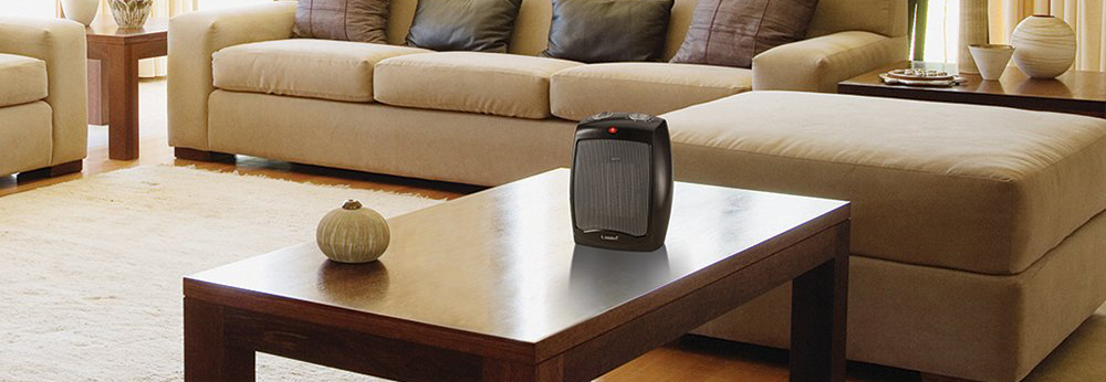 Lasko Ceramic Portable Space Heater with Adjustable Thermostat - Perfect For the Home or Home Office