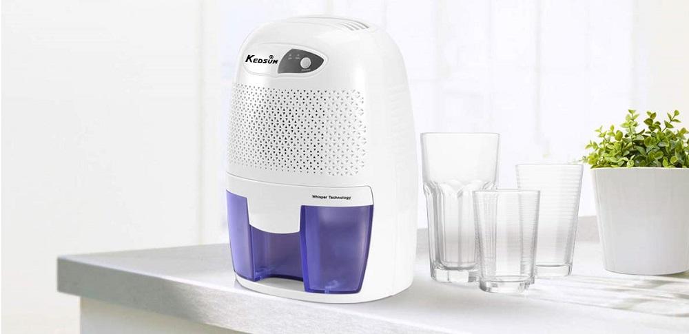 KEDSUM Electric Mini Dehumidifier, Small Dehumidifier