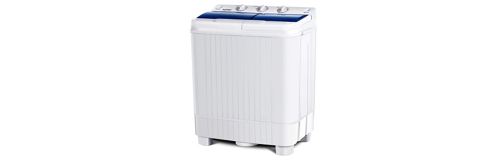 KUPPET Portable Washing Machine, 17lbs Compact Twin Tub Washer and Spin Dryer