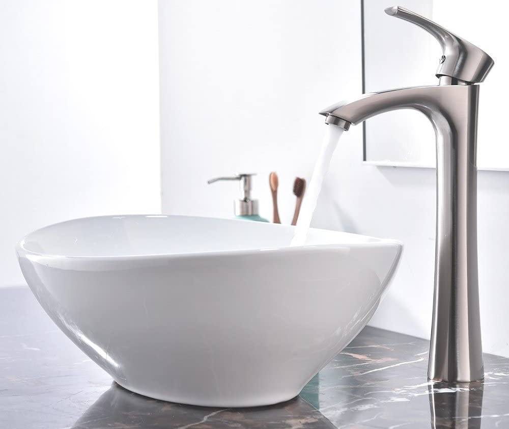 KINGO HOME Above Counter White Porcelain Ceramic Bathroom Vessel Sink Review