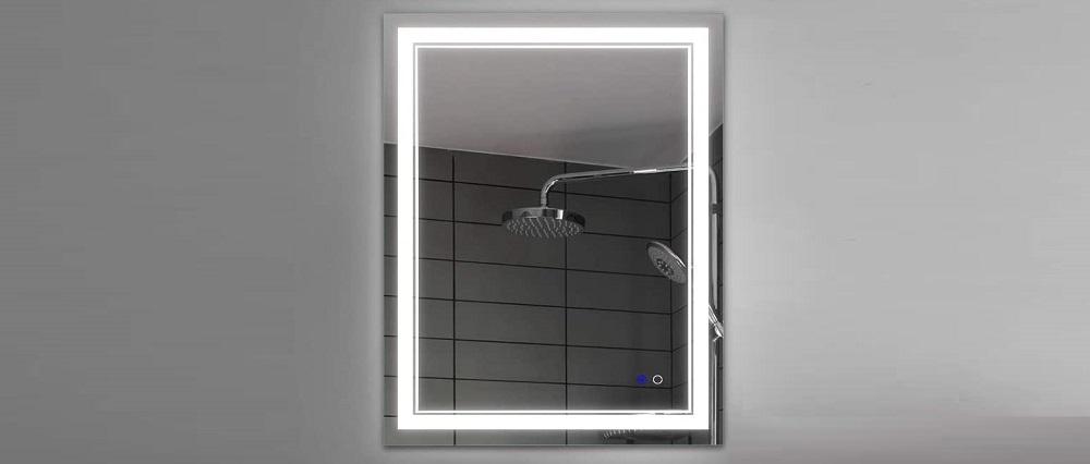 Keonjinn 20 x 28 inch Anti-Fog Horizontal LED Bathroom Vanity Mirror Wall Review