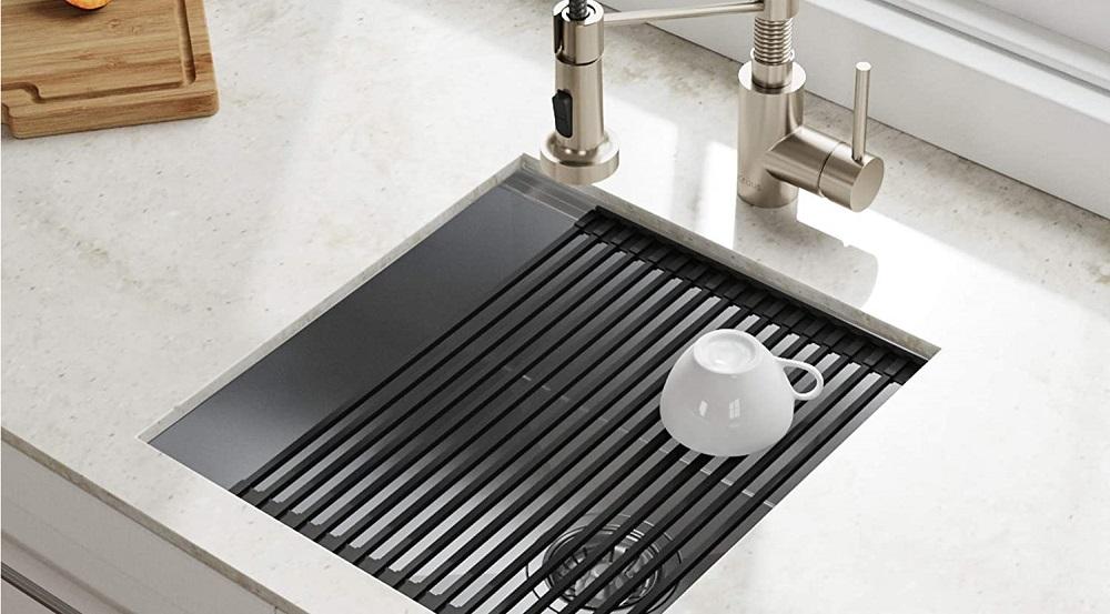 Kraus KWU111-17 Kore Workstation Single Bowl Bar Sink
