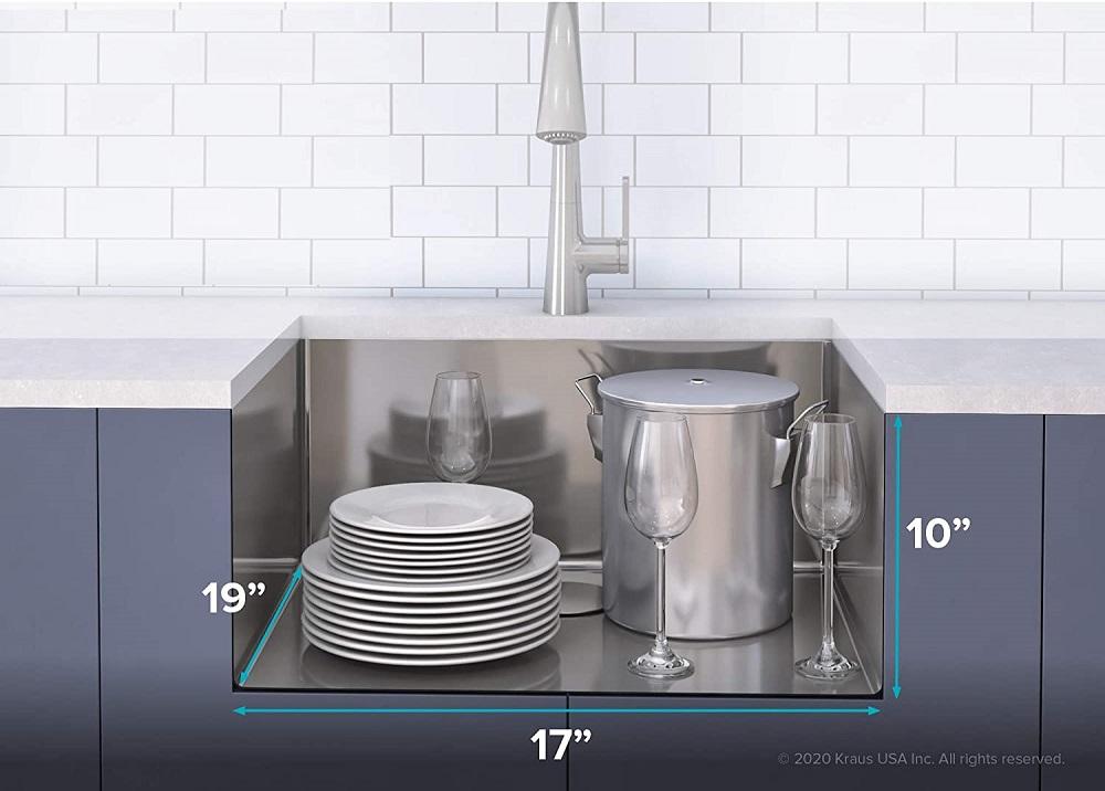 Kraus KWU111-17 Kore Workstation Kitchen Sink