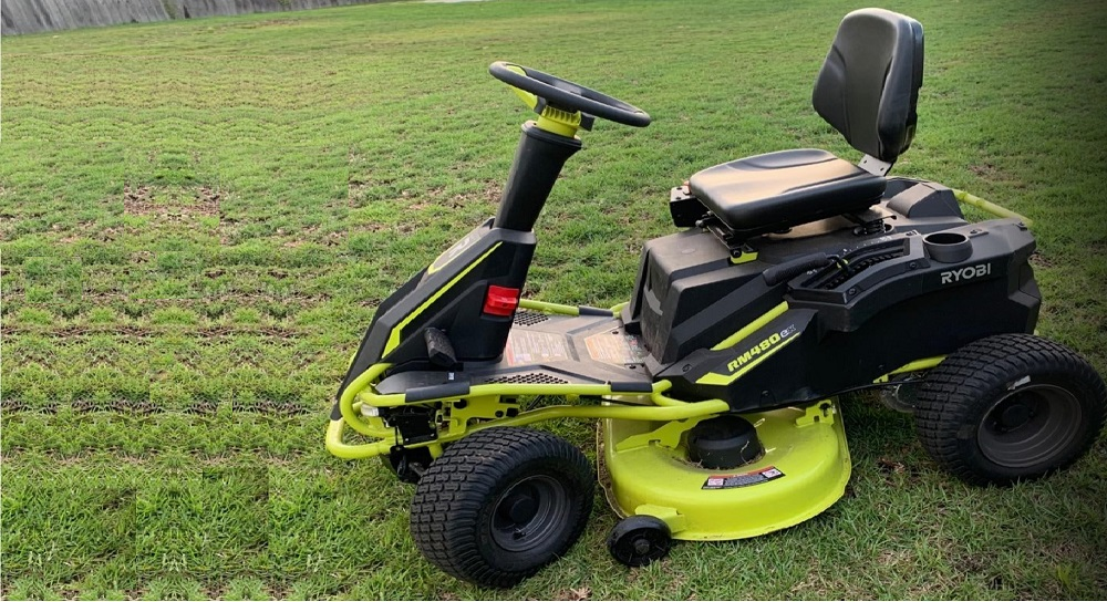 Ryobi RY48111 Battery Electric Rear Engine Riding Lawn Mower Review