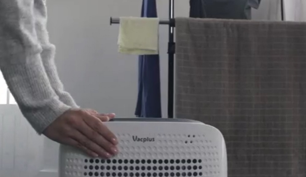 Vacplus 50 Pints Dehumidifier with WiFi Remote for Large Rooms